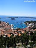 Вид с града на Хвар Хорватия отдых 2013