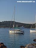 Яхта в заливе святого Клементина Хорватия отдых 2013
