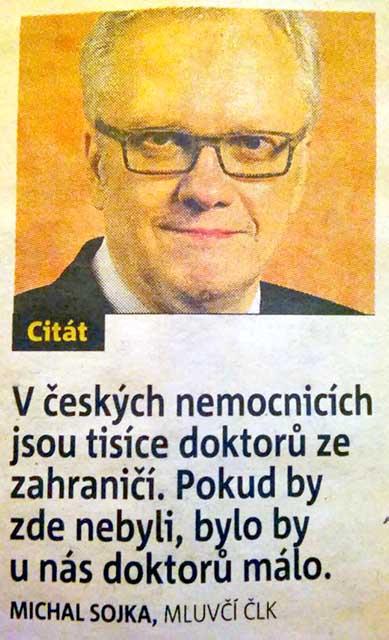 В Чешских больницах тысячи заграничных докторов. Учатся в Чехии, лечат за границей