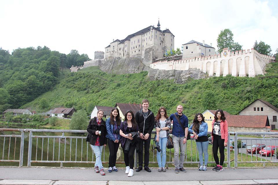 Поездка со студентами в Град Чешский Штемберг 2016
