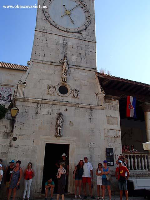 Часы в Трогире Хорватия отдых 2013