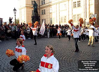 Львівськи Фанфари Марш Парад «Карлов мост»  или Украинский эксклюзив покоряет Европу