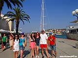 Начало пристани Трогира Хорватия отдых 2013