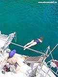 Красивый прыжок Хорватия отдых 2013