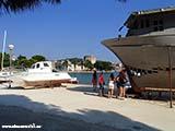 Ремонт яхты в Трогире Хорватия отдых 2013