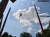 Сетка в небе 8 метров над землёй
