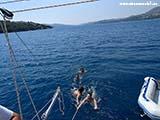 Скорость одна морская миля2 Хорватия отдых 2013