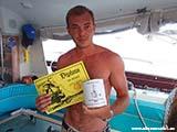 Вручение дипломов на яхте Хорватия отдых 2013
