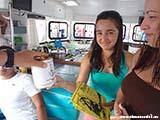 Вручение дипломов на яхте3 Хорватия отдых 2013