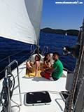 Загораем на яхте Хорватия отдых 2013