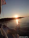 Закат с яхты Хорватия отдых 2013