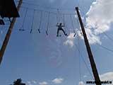 Живая лестница 8 метров над землёй